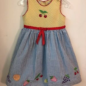 Vintage Youngland Seersucker Cherries Dress - 4